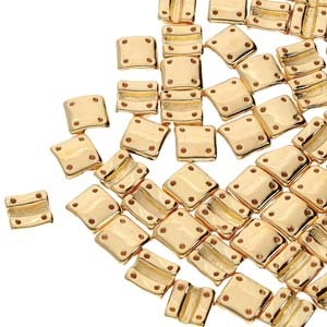 FXRV8700030-35000 - Fixer Beads with Vertical Holes - Gold Plated - 10 Count