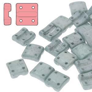 FXRV8703000-14459 - Fixer Beads with Vertical Holes - Chalk Green Luster - 10 Count