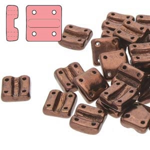 FXRV8723980-14415 - Fixer Beads with Vertical Holes - Jet Bronze - 10 Count