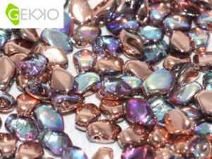 GEKKO-00030-98533 - Gekko 3 x 5 mm Crystal Copper Rainbow - 25 Count