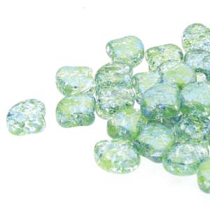 Ginko : GNK8700030-24404 - Confetti Splash Blue Green - 25 Beads