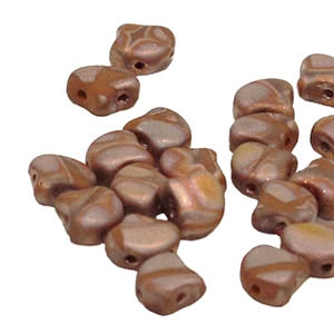 Ginko : GNK8713600-27173 - Opaque Chocolate Matte Apollo  - 25 Beads