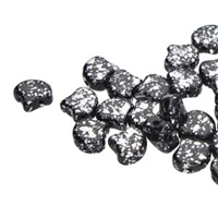 Ginko : GNK8723980-15481 - Jet Silver Splash - 25 Beads