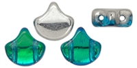 Ginko : GNK87-60020-27002 Backlit Aquamarine - 25 Beads