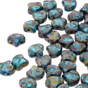 Ginko : GNK8760020-86805 - Aqua Travertine - 25 Beads