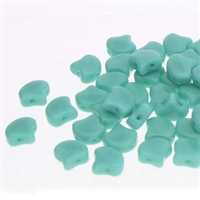 Ginko : GNK87-63130 Turquoise Green - 25 Beads