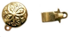Gold Plated Brass Box Clasp 10MM