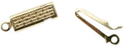 Gold Plated Brass Box Clasp 19x5mm