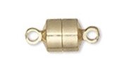 5 - Gold Plated Magnetic Barrel Clasps 8x6x6