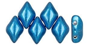 GemDuo-06B03 - GemDuo 2-Hole Beads - 5x8mm - Saturated Metallic Nebulas Blue (8 Grams - Approx. 55 pcs)