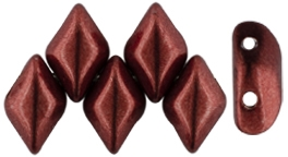 GemDuo-07B10 - GemDuo 2-Hole Beads - 5x8mm - ColorTrends: Saturated Metallic Merlot (8 Grams - Approx. 55 pcs)