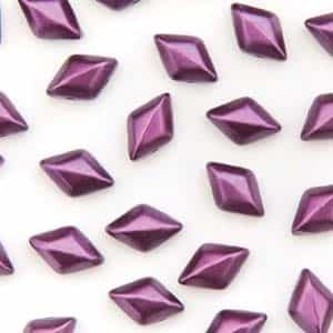 GemDuo-25032 - GemDuo 2-Hole Beads - 5x8mm - Pastel Bordeaux (approx 55 pcs)