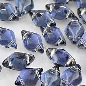 GemDuo-26901 - GemDuo 2-Hole Beads - 5x8mm - Backlit Periwinkle (approx 55 pcs)