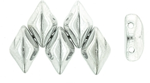 GemDuo-27000 - GemDuo 2-Hole Beads - 5x8mm - Silver  (approx 55 pcs)