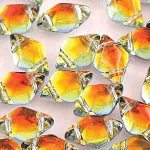 GemDuo-28002 - GemDuo 2-Hole Beads - 5x8mm - Backlit Tequila (approx 55 pcs)
