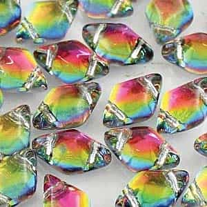 GemDuo-28102 - GemDuo 2-Hole Beads - 5x8mm - Backlit Utopia (approx 55 pcs)