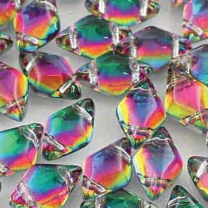 GemDuo-29436 - GemDuo 2-Hole Beads - 5x8mm - Backlit Spectrum (approx 55 pcs)
