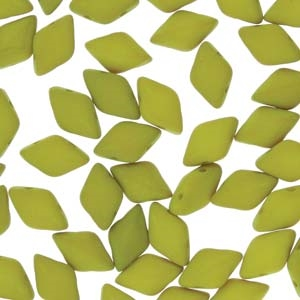 GemDuo-29535 - GemDuo 2-Hole Beads - 5x8mm - Matte Velvet Lemongrass (8 Grams - Approx. 55 pcs)