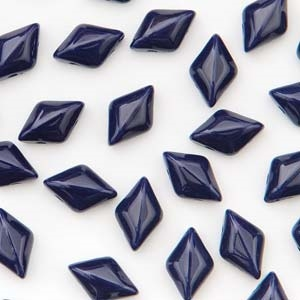 GemDuo-33400 - GemDuo 2-Hole Beads - 5x8mm - Navy Opaque (8 Grams - Approx. 55 pcs)