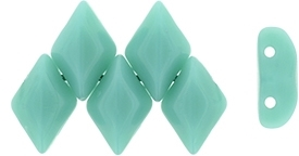 GemDuo-6313 - GemDuo 2-Hole Beads - 5x8mm - Opaque Turquoise (approx 55 pcs)