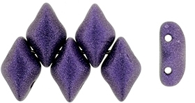GemDuo-79021 - GemDuo 2-Hole Beads - 5x8mm - Metallic Suede Purple (approx 55 pcs)