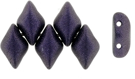 GemDuo-79022 - GemDuo 2-Hole Beads - 5x8mm - Metallic Suede Dark Purple (approx 55 pcs)