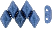 GemDuo-79031 - GemDuo 2-Hole Beads - 5x8mm - Metallic Suede Blue (approx 55 pcs)