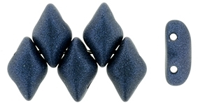 GemDuo79032- - GemDuo 2-Hole Beads - 5x8mm - Metallic Suede Dark Blue (approx 55 pcs)
