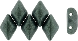 GemDuo-79052 - GemDuo 2-Hole Beads - 5x8mm - Metallic Suede Dark Forest (approx 55 pcs)