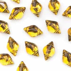 GemDuo-BL1006 - GemDuo 2-Hole Beads - 5x8mm - Backlit Topaz (approx 55 pcs)