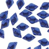 GemDuo-BL3006 - GemDuo 2-Hole Beads - 5x8mm - Backlit Sapphire (approx 55 pcs)