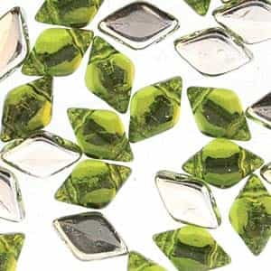 GemDuo-BL5023 - GemDuo 2-Hole Beads - 5x8mm - Backlit Olivine (approx 55 pcs)