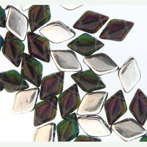 GemDuo-BLF3033 - GemDuo 2-Hole Beads - 5x8mm - Backlit Flourite (8 Grams - Approx. 55 pcs)