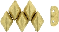 GemDuo-K0171 - GemDuo 2-Hole Beads - 5x8mm - Matte - Metallic Flax (approx 55 pcs)