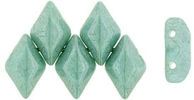 GemDuo-P14459 - GemDuo 2-Hole Beads - 5x8mm - Opaque - Luster Teal (approx 55 pcs)