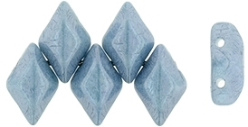 GemDuo-P14464 - GemDuo 2-Hole Beads - 5x8mm - Opaque - Luster Blue (approx 55 pcs)