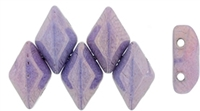 GemDuo-P15726 - GemDuo 2-Hole Beads - 5x8mm - Luster - Opaque Amethyst (approx 55 pcs)
