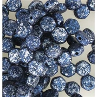 Czech 2-Hole 6mm Honeycomb Beads - HC-23980-45706 - Tweedy Blue - 25 Count
