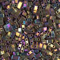 5 Grams HTL-188 MR Purple Gold Miyuki Half Tila Beads