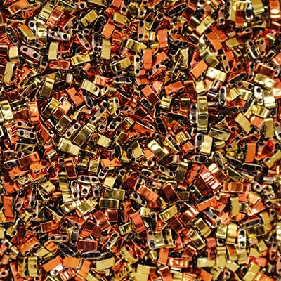 5 Grams HTL-55041 Black California Gold Rush Miyuki Half Tila Beads