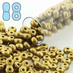 INF36-29418 - Infinity Beads 3x6mm - Matte Metallic Olivine - 8 Gram Tube (approx 100 pcs)
