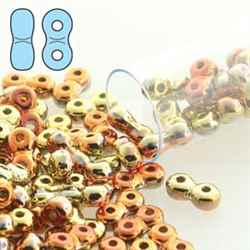 INF48-23980-98542 - Infinity Beads 4x8mm - California Gold Rush - 7.5 Gram Tube (approx 90 pcs)