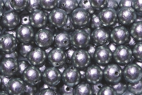 J673-08 - 8mm Rich Gray/Lavender Cotton Pearl Bead - 1 Pearl