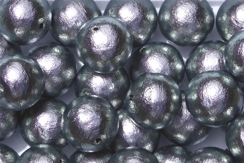 J673-14 - 14mm Rich Gray/Lavender Cotton Pearl Bead - 1 Pearl