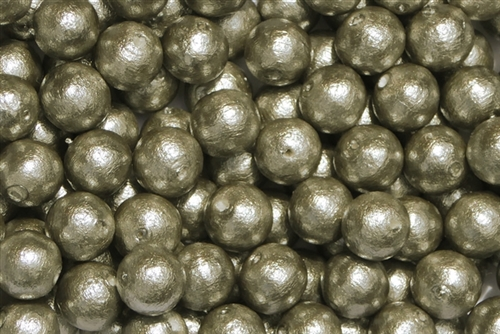 J688-08 - 8mm Gray Cotton Pearl Bead - 1 Pearl