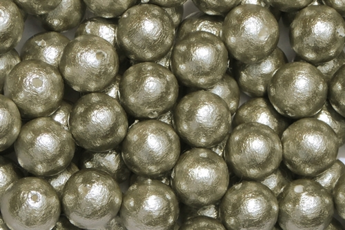 J688-10 - 10mm Gray Cotton Pearl Bead - 1 Pearl