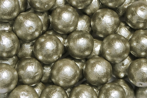 J688-12 - 12mm Gray Cotton Pearl Bead - 1 Pearl