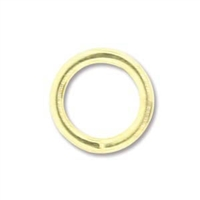 5mm Round Jump Rings - Gold-plated - 1 Gross(144) per Bag
