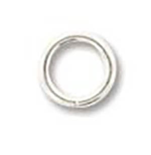 5mm Round Jump Rings - Silver-plated - 1 Gross(144) per Bag