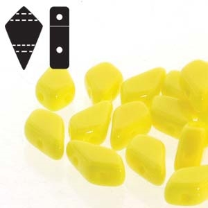 Czech Kite Beads : 9x5mm - KT9583120 - Lemon - 25 Count
